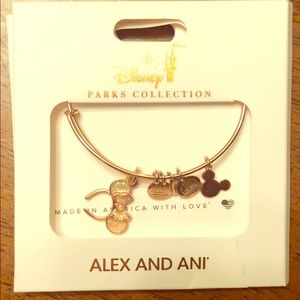 Rose Gold Alex and Ani Minnie Mouse Bracelet